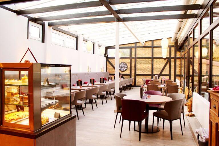 Foto vom Sitzbereich im Saunarestaurant