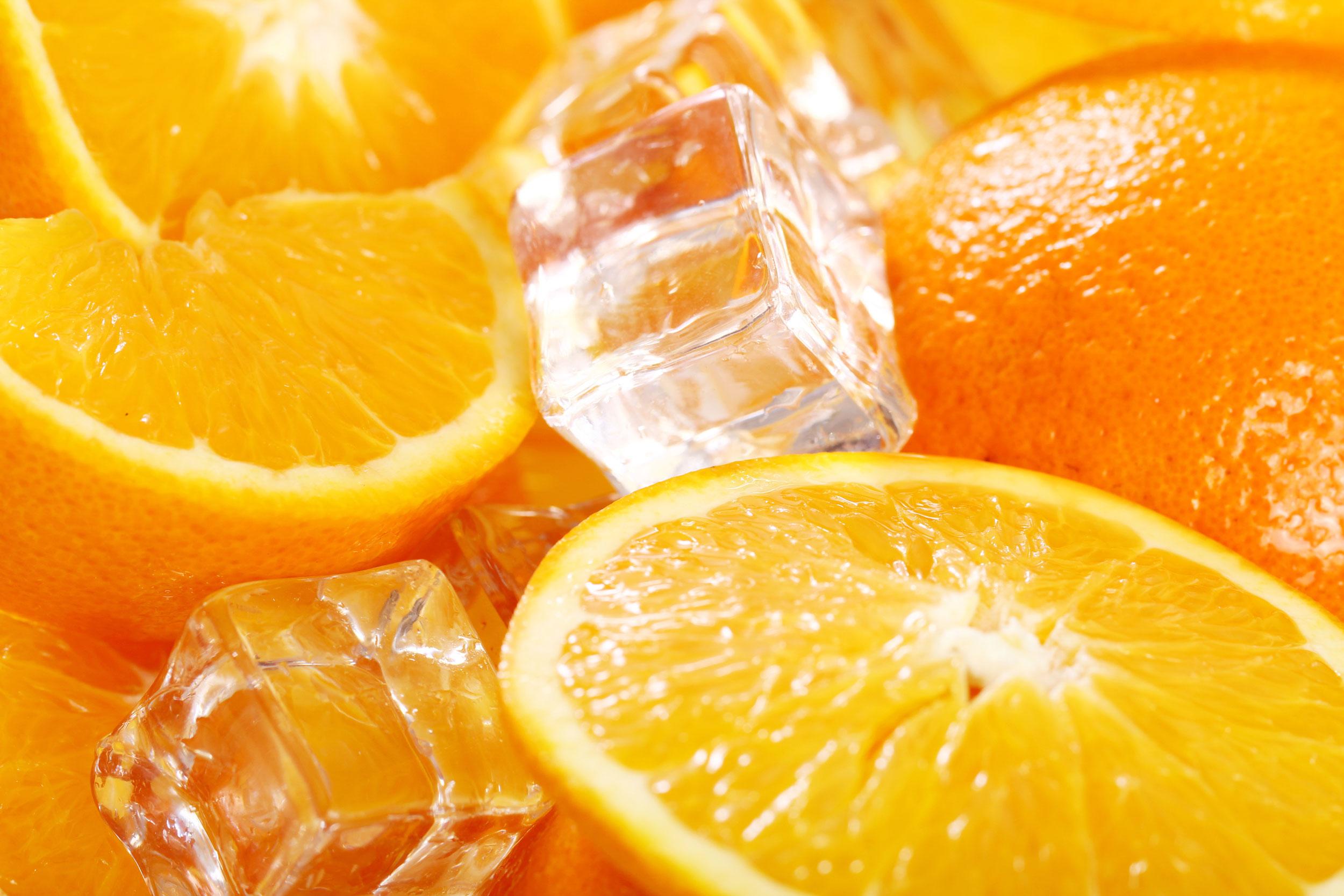 Früchte Eis Aufguss Motiv