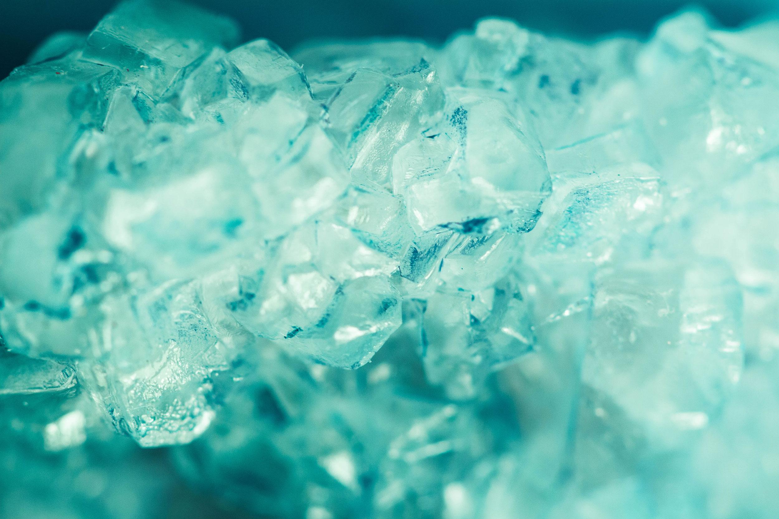 Menthol Kristall Aufguss Motiv
