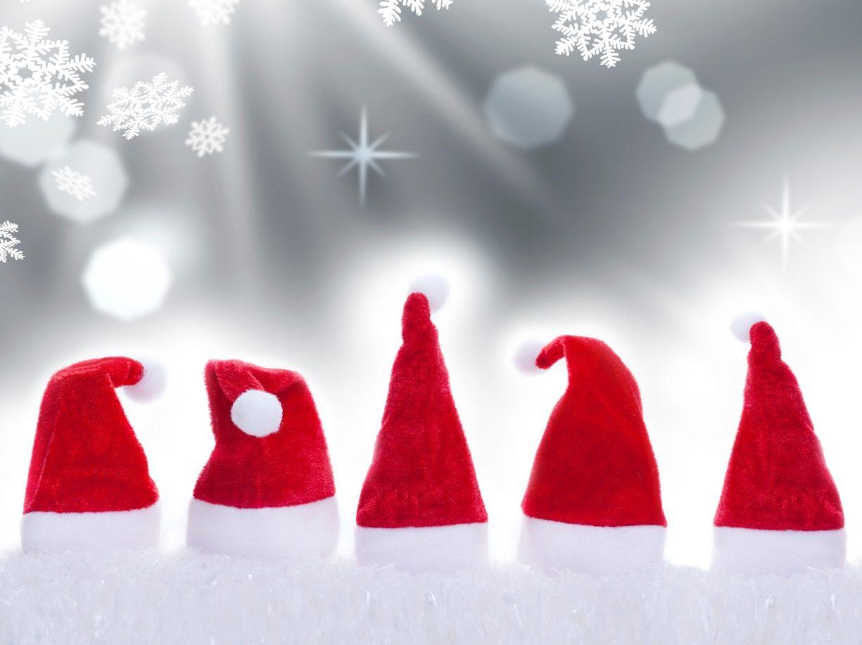 Motiv von Weihnachtsmuetzen